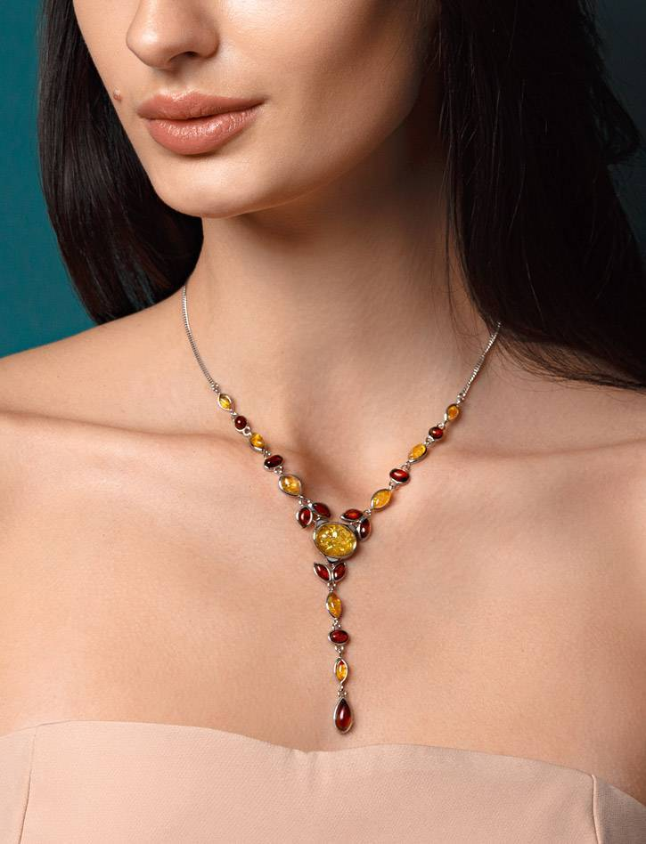 Wonderful Multicolor Amber Necklace, image , picture 2