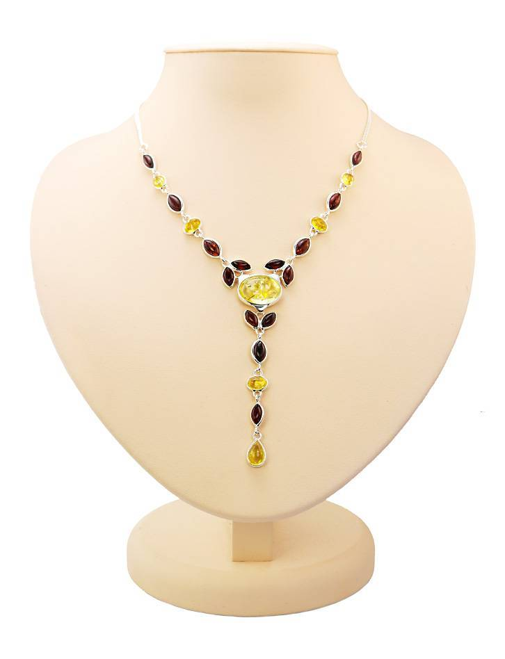 Wonderful Multicolor Amber Necklace, image