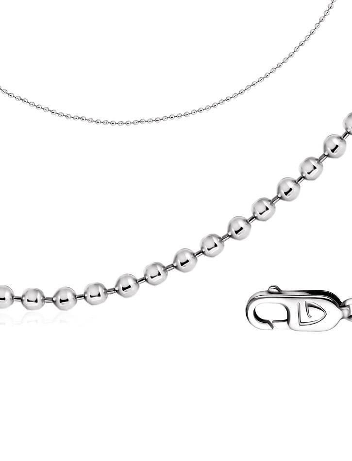 Fine Silver Ball Chain, Length: 45, image