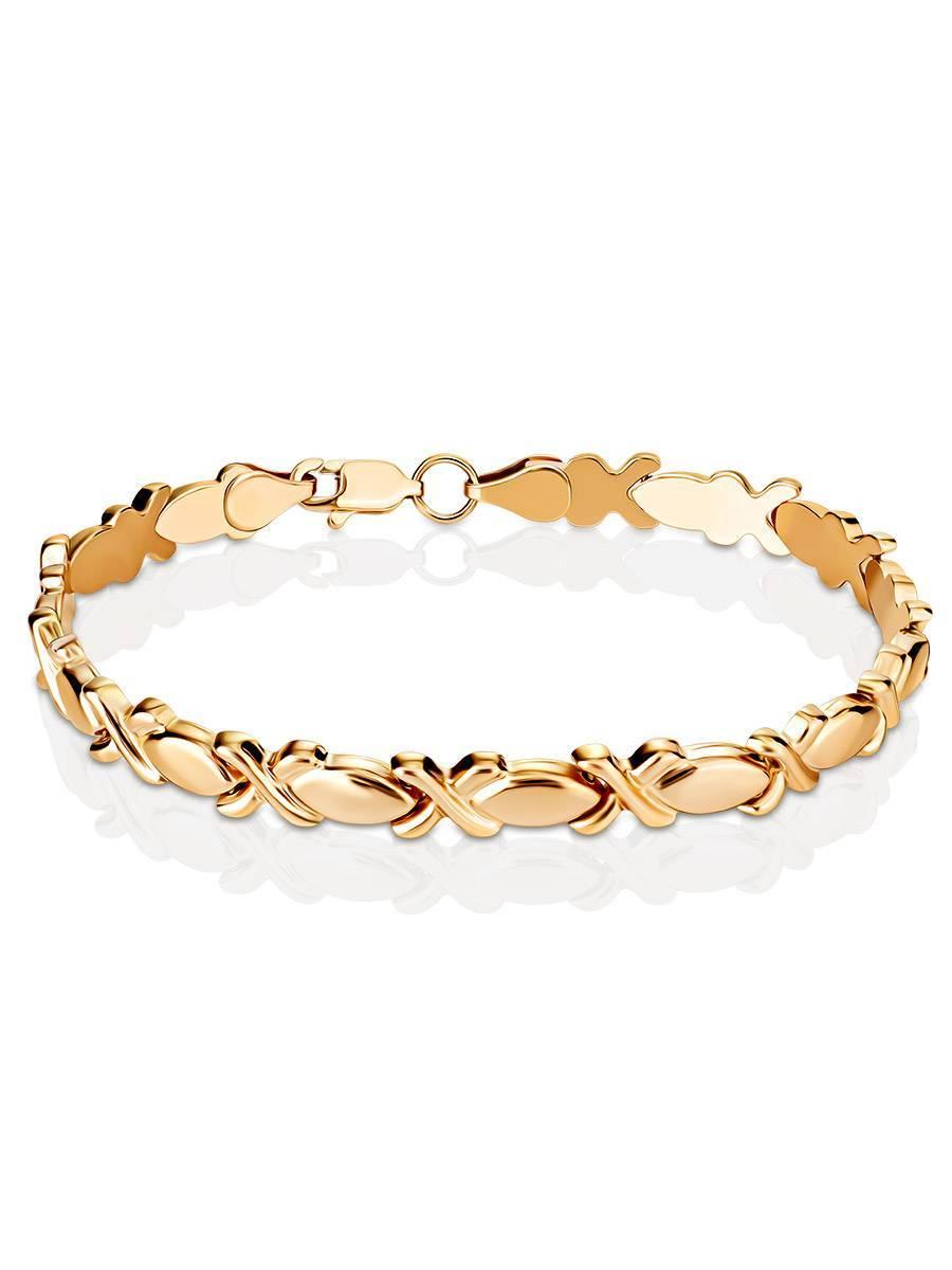Ultra Feminine Design Golden Link Bracelet, image