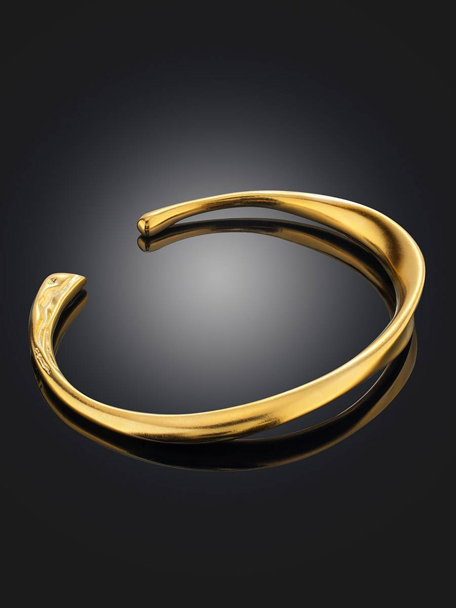 Minimalist Gold Plated Silver Cuff Bracelet The ICONIC, image , picture 2