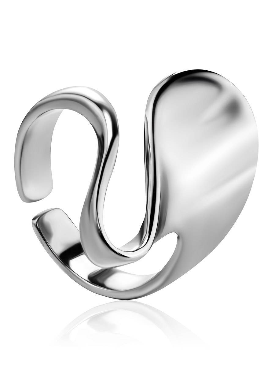 Cool Contemporary Sterling Silver Ring The Liquid, Ring Size: Adjustable, image