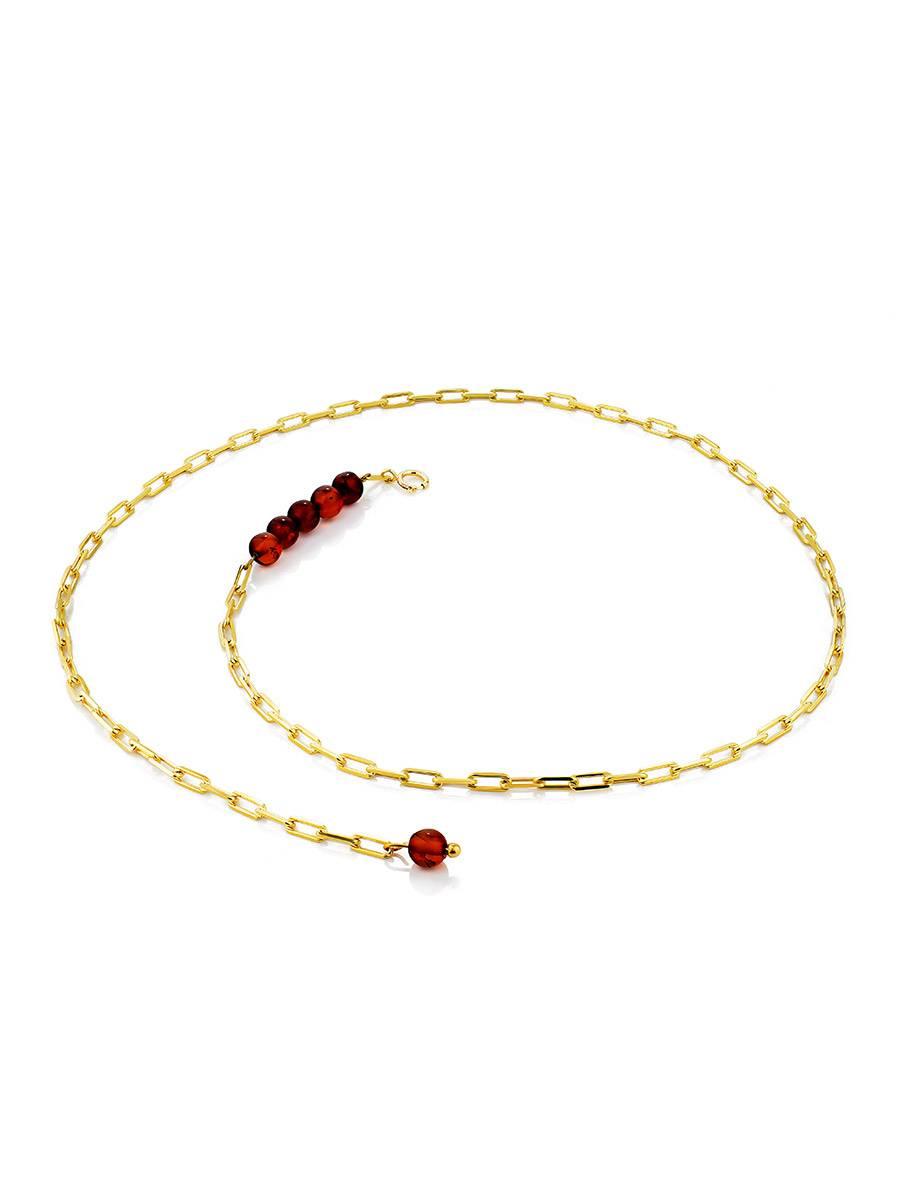 Fashionable Gilded Silver Necklace With Horizontal Bar Pendant The Palazzo, image , picture 3