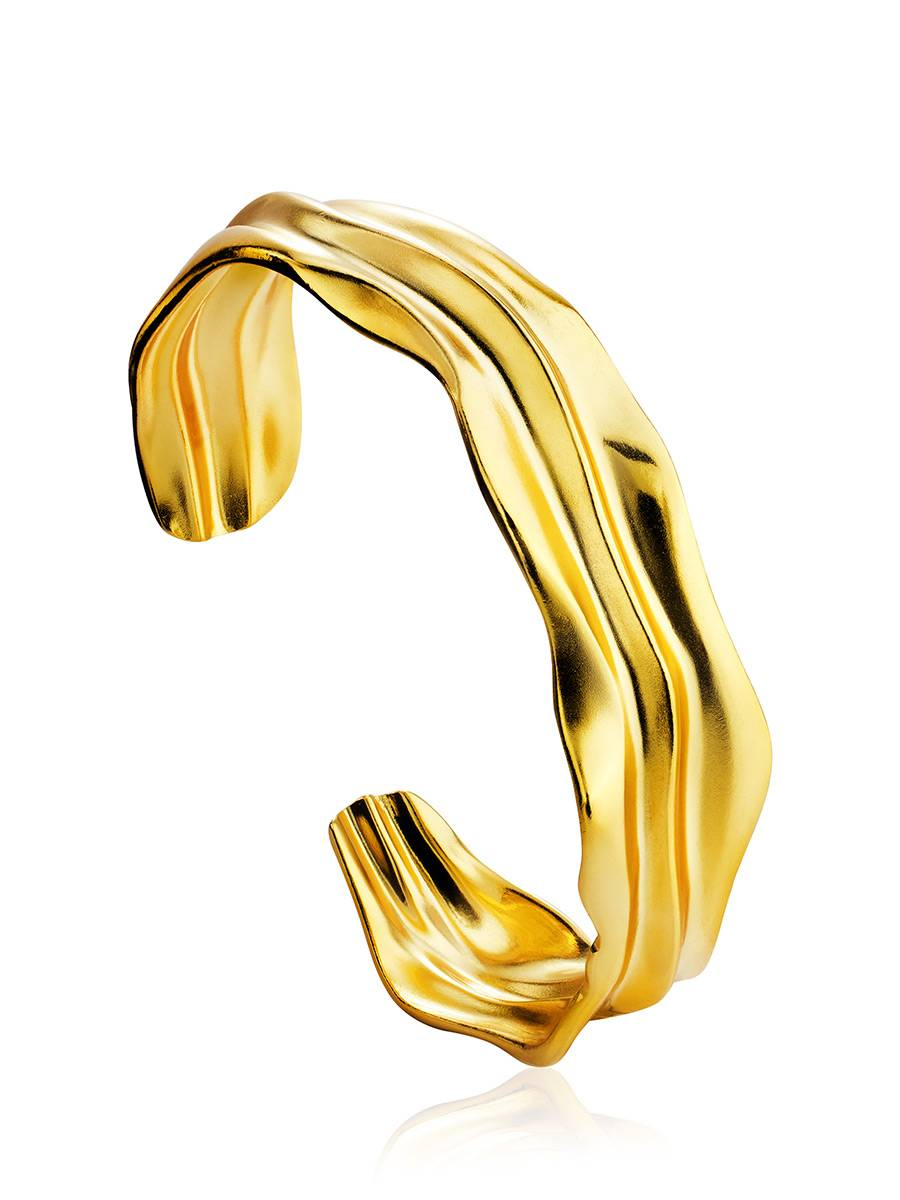 Chic Gold Plated Silver Cuff Bracelet The Liquid, image
