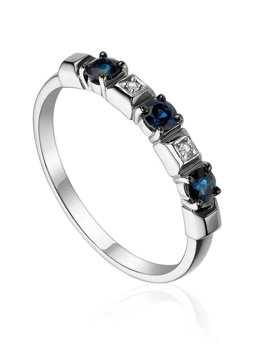 Fabulous Gold Sapphire Diamond Ring, Ring Size: 5 / 15.5, image