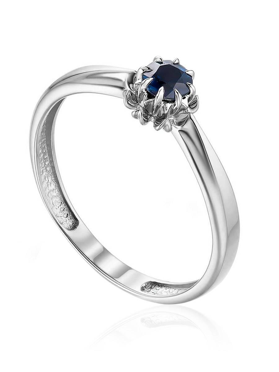 Refined white Gold Sapphire Ring, Ring Size: 5.5 / 16, image