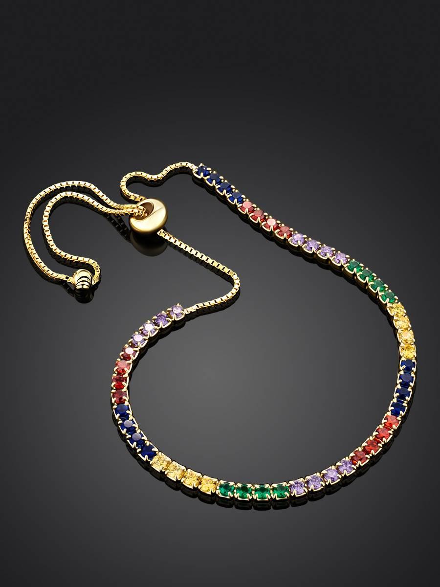 Multicolor Crystal Tennis Bracelet, image , picture 2