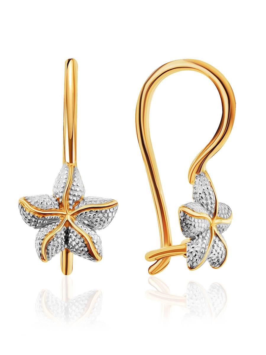 Starfish Design Golden Earrings, image