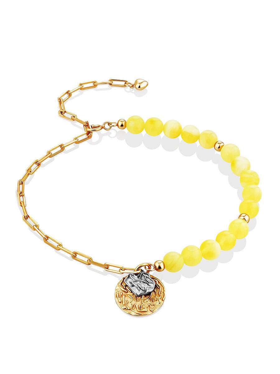 Boho Style Gilded Silver Amber Bracelet The Palazzo, image