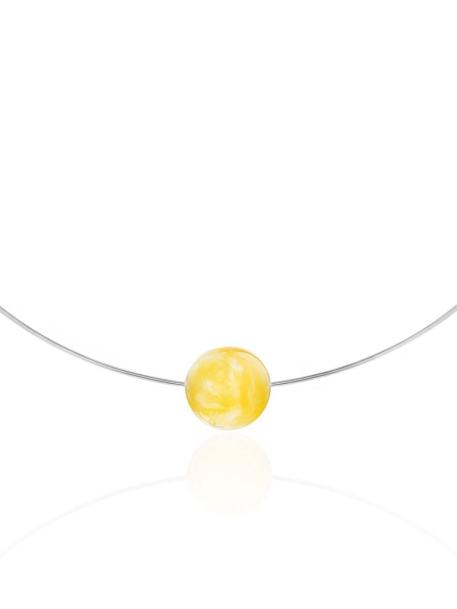 Designer Silver Wire Amber Necklace The Palazzo, image