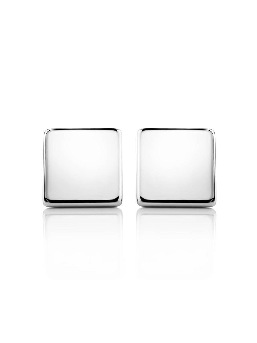 Minimalistic Square Silver Studs The Aurora, image , picture 3