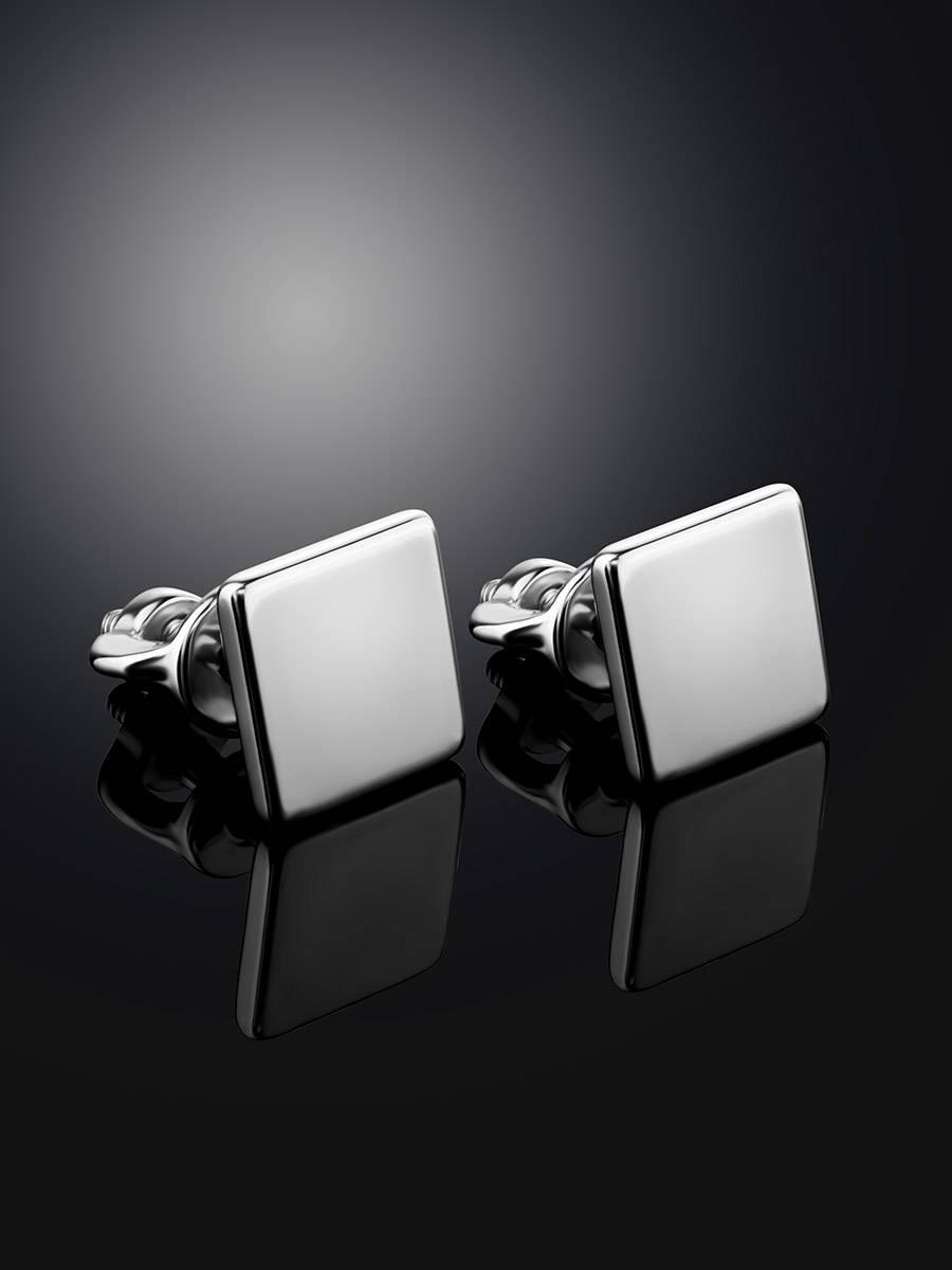Minimalistic Square Silver Studs The Aurora, image , picture 2