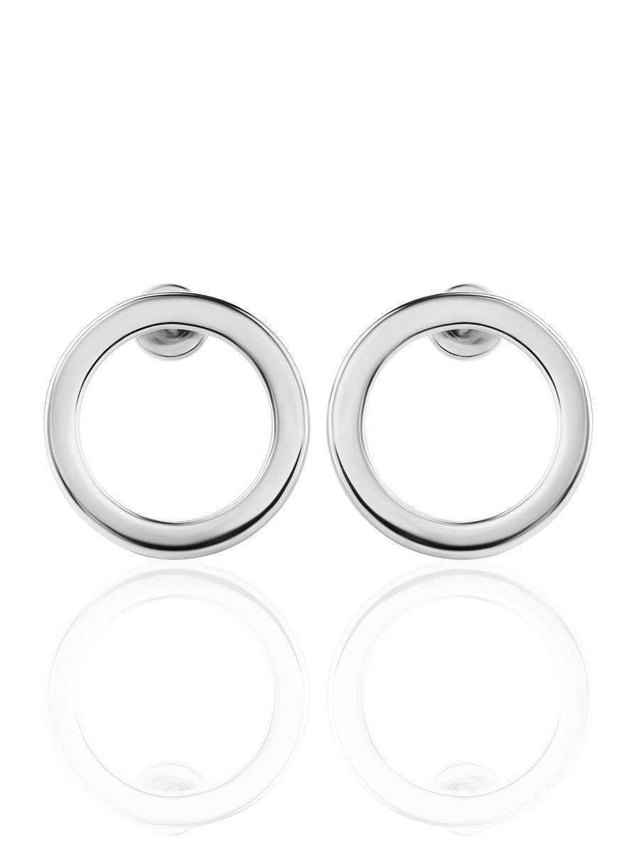 Round Silver Studs The Astro, image , picture 3