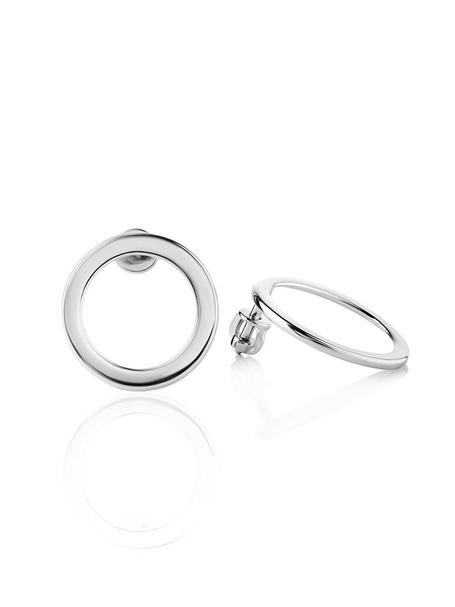 Round Silver Studs The Astro, image