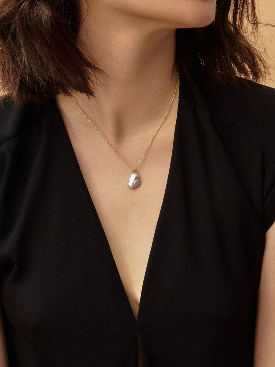 18ct Gold on Sterling Silver Pearl Pendant Necklace The Palazzo, image , picture 6