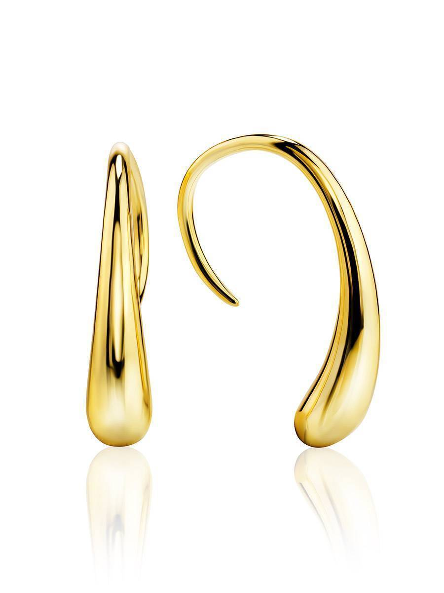 Statement 18ct Gold on Sterling Silver Drop Earrings The Liquid, image
