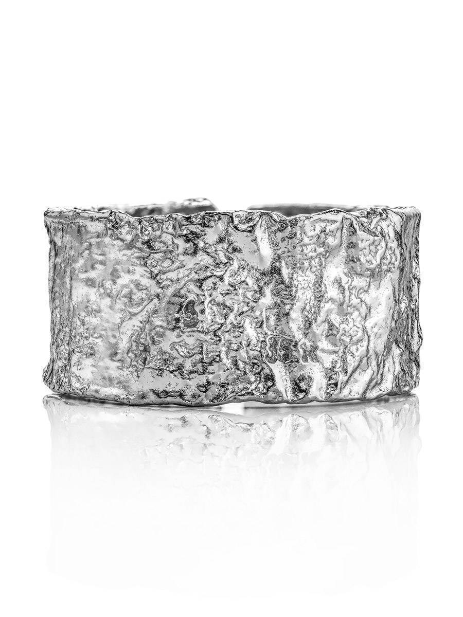Antiqued Finish Stylish Silver Ring The Liquid, Ring Size: Adjustable, image , picture 3