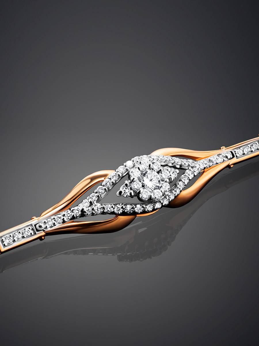 Fabulous Golden Bracelet With Diamonds, image , picture 2