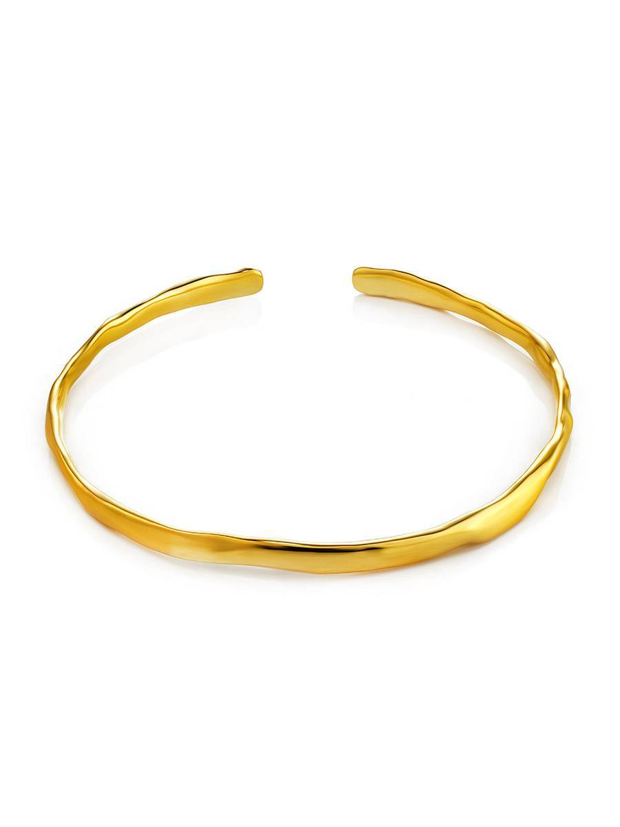 Luxurious Gold-Plated Silver Bangle The Liquid, image , picture 3