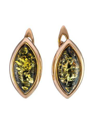 Green Amber Gold Earrings The Amaranth, image