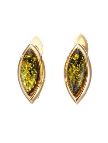Adorable Golden Earrings With Natural Amber The Andromeda, image