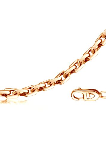 Gold Plated Silver Cable Chain 50 cm, Length: 55, image