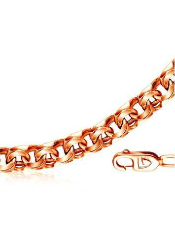 Gold Plated Silver Bismark Chain Necklace 55 cm, Length: 60, image