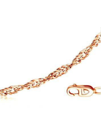 Gold Plated Silver Singapore Rope Chain 40 cm, Length: 40, image