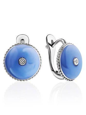 Romantic Blue Enamel Diamond Earrings The Heritage, image