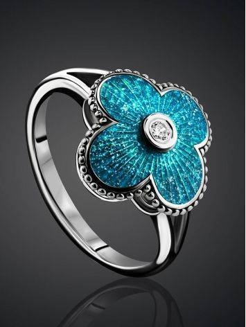 Shimmering Enamel Ring With Crystal The Heritage, Ring Size: 7 / 17.5, image , picture 2