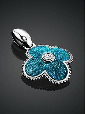 Shimmering Blue Enamel Pendant With Crystal The Heritage, image , picture 2