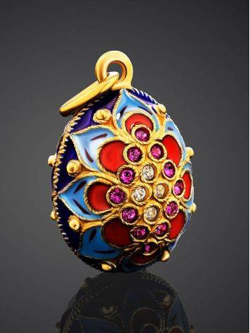 Amazing Enamel Egg Pendant With Crystals The Romanov, image , picture 2