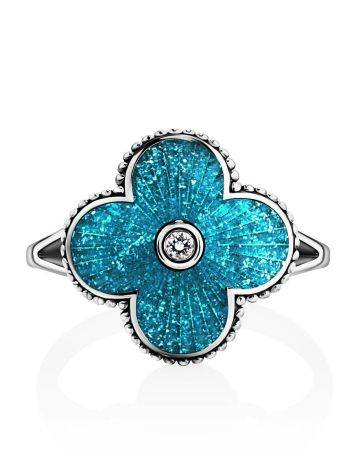 Shimmering Enamel Ring With Crystal The Heritage, Ring Size: 7 / 17.5, image , picture 3