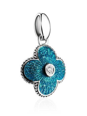 Shimmering Blue Enamel Pendant With Crystal The Heritage, image , picture 3