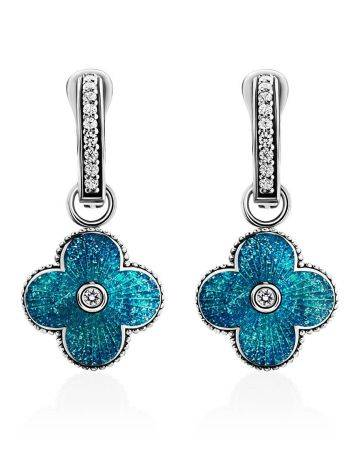 Shimmering Enamel Dangle Earrings With Crystals The Heritage, image