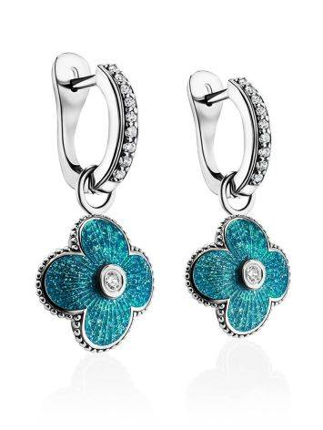 Shimmering Enamel Dangle Earrings With Crystals The Heritage, image , picture 3