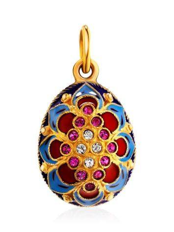 Amazing Enamel Egg Pendant With Crystals The Romanov, image