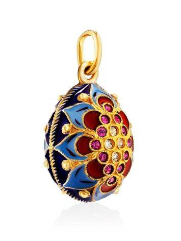 Amazing Enamel Egg Pendant With Crystals The Romanov, image , picture 3