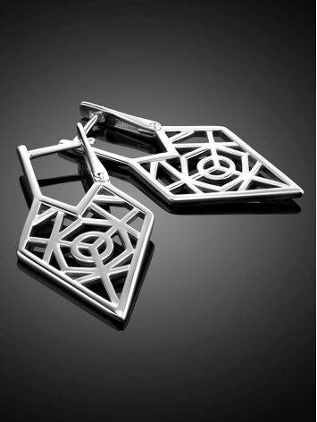 Geometric Laced Silver Earrings The Sacral, image , picture 2