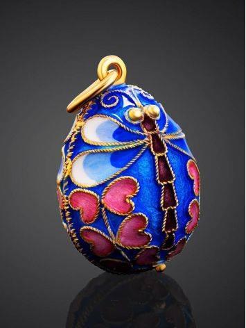 Enamel Dragonfly Design Egg Shaped Pendant The Romanov, image , picture 2