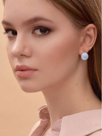 Romantic Blue Enamel Diamond Earrings The Heritage, image , picture 4
