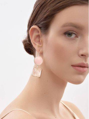Statement Blush Pink Multi Stone Drop Earrings The Bella Terra, image , picture 4
