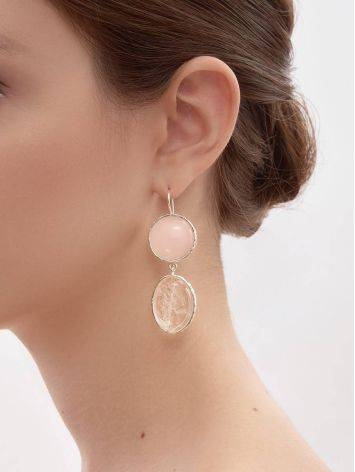 Statement Blush Pink Multi Stone Drop Earrings The Bella Terra, image , picture 7