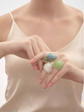 Statement Multi Stone Cocktail Ring The Bella Terra, Ring Size: 8.5 / 18.5, image , picture 4