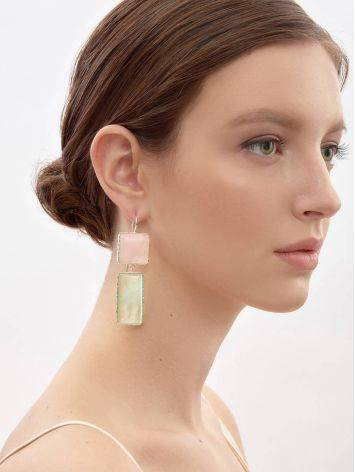 Cute Green & Pink Mismatched Drop Earrings The Bella Terra, image , picture 5