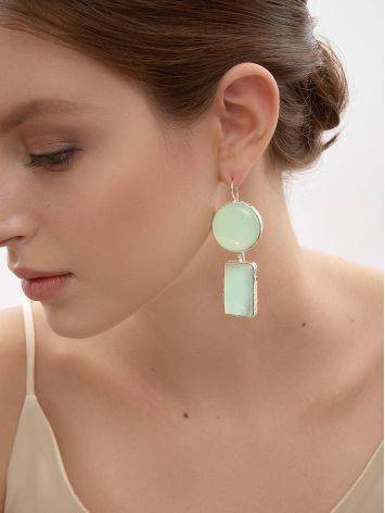 Cute Green & Pink Mismatched Drop Earrings The Bella Terra, image , picture 4