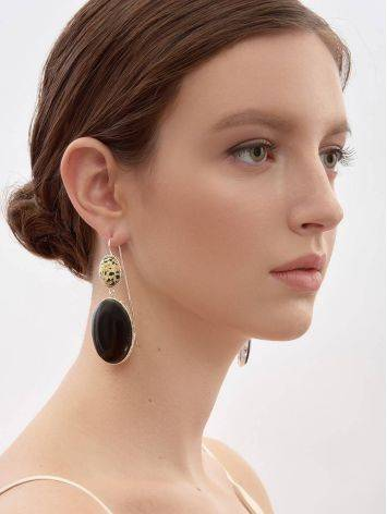 Speckled Mismatched Drop Earrings The Bella Terra, image , picture 3