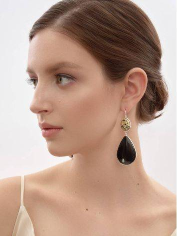 Speckled Mismatched Drop Earrings The Bella Terra, image , picture 7