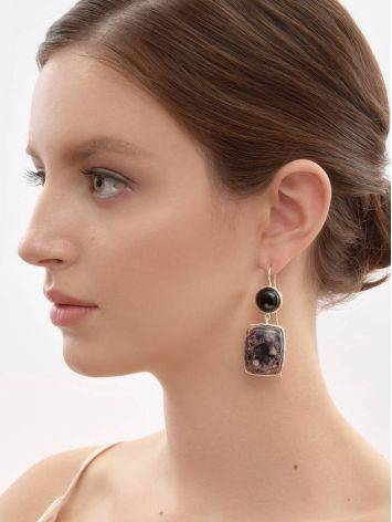 Purple Marble Effect Drop Cocktail Earrings The Bella Terra, image , picture 4