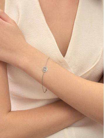 Amazing Silver Bracelet With Spiral Design Detail The Enigma Collection, Length: 19, image , picture 5